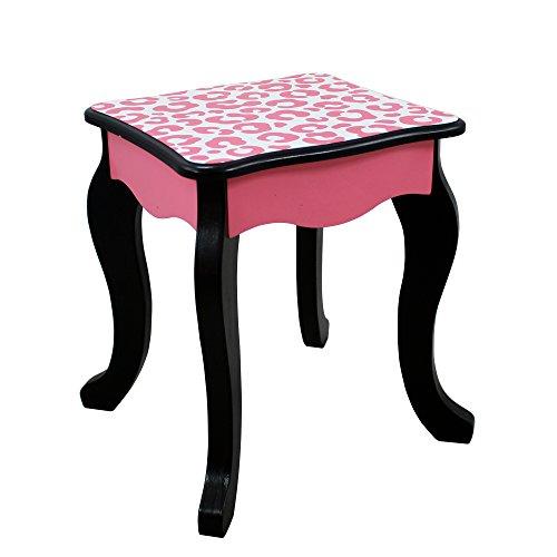 Teamson Kids Fashion Prints Girls Vanity Table And Stool