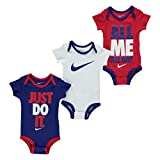 Nike 0-6 Months Baby Boys Swoosh 3 Pack Romper Girls Baby Showers Clothing Gift