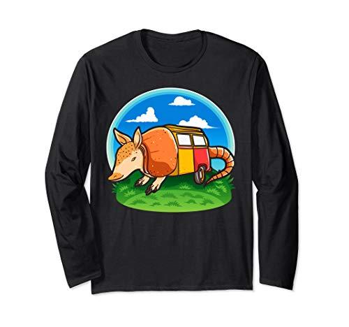 Funny Armadillo Holiday Camper Trailer Camping tshirt]()