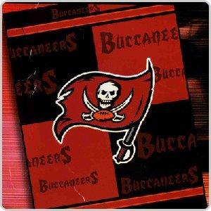 NFL Football Tampa Bay Buccaneers Blanket 4th Quarter Mink Raschel Plush Twin 60 X 80 - 85% Acrylic = Keeps You Warmer