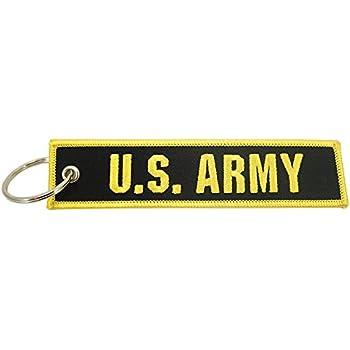 Digital Camo Embroidered Key Chain Fob U.S Army