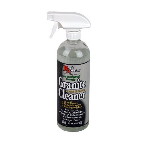 (Rock Doctor Natural Granite Cleaner for a Sparkling Kitchen, Natural Cleaner - Non-Toxic Granite Cleaner for Kitchen Counter, Table Top & Marble Countertop - Biodegradable pH Neutral Cleaner, 24 oz.)
