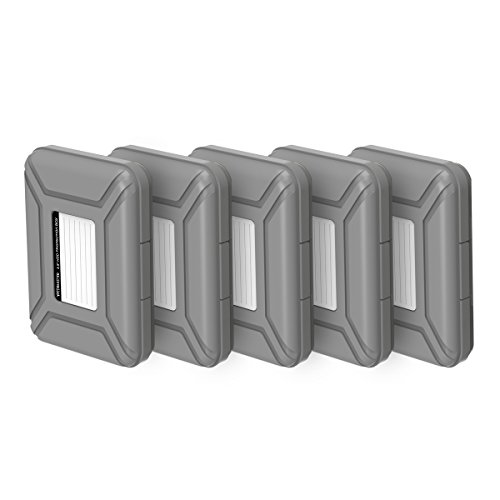 5-Pack Yottamaster 3.5 Inch Portable HDD Case / External Hard Drive Case -Gray by Yottamaster