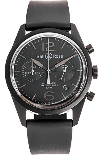 Bell & Ross Men's Phantom Automatic Chronograph Black Rubber and -