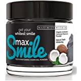 Maximum Slim Organic Teeth Whitening Powder Made in USA- Coconut Activated Charcoal Powder