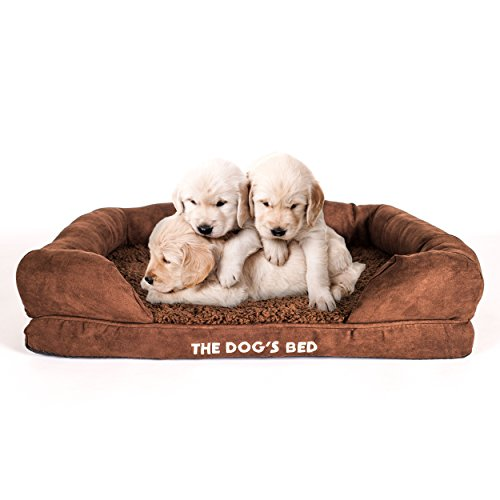 The Dog's Bed, Premium Orthopedic Waterproof Memory Foam Dog Beds with Sides, 3 Sizes/3 Colors: Eases Pet Arthritis, Hip Dysplasia & Post Op Pain, Quality Therapeutic Supportive Bed, Washable Covers