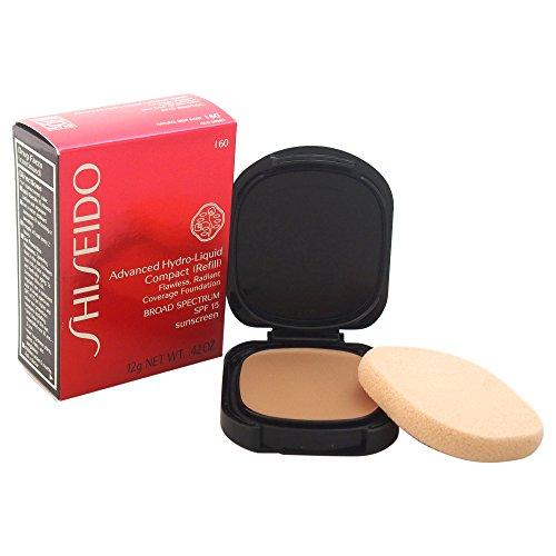 I60 Natural - Shiseido SPF 15 Advanced Hydro-Liquid Compact Refill, I60/Natural Deep Ivory, 0.42 Ounce