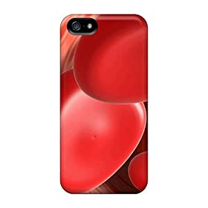 Fashion Tpu Case For Iphone 5/5s- Red Bloodcell Defender Case Cover