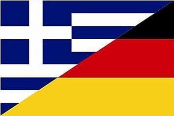 U24 Aufkleber Griechenland Deutschland Flagge Fahne 15 X 10 Cm Autoaufkleber Sticker Auto