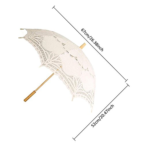 European Style Cutout Wedding Parasol Bridal Shower Decoration Umbrella, Handmade Black Lace Parasol Umbrella Custom-Made Gift Umbrella by AGSHOP (Image #6)