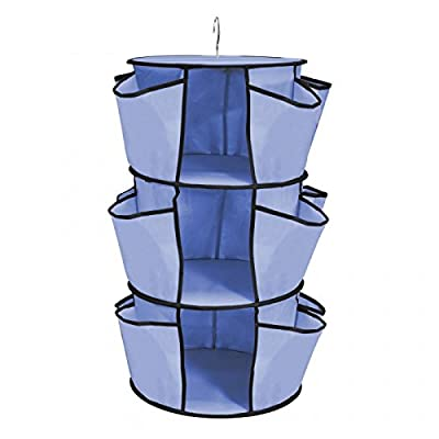Seven One Hanging Closet Organizer Blue