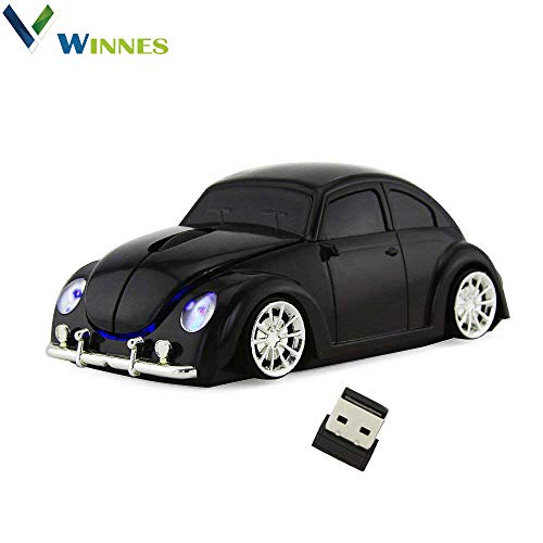 Wireless Car Mouse,Winnes 2.4GHz Mini Mouse 3D Sport Car Shaped Ergonomic Design Mini Mice with USB Receiver for PC Laptop Computer Notebook iMac MacBook Microsoft Pro, Office Home ()
