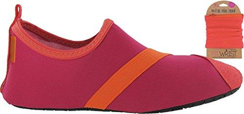 FitKicks Shoes With Free FITWRIST Wallet (Fuchsia/Orange) TIHfL8