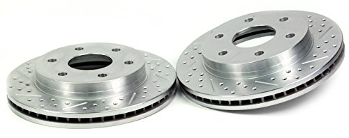 BAER 54017-020 Sport Rotors Slotted Drilled Zinc Plated Rear Brake Rotor Set - Pair