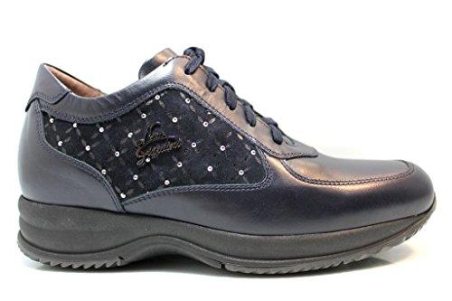 Nero Giardini - Zapatillas de Piel para mujer azul oscuro