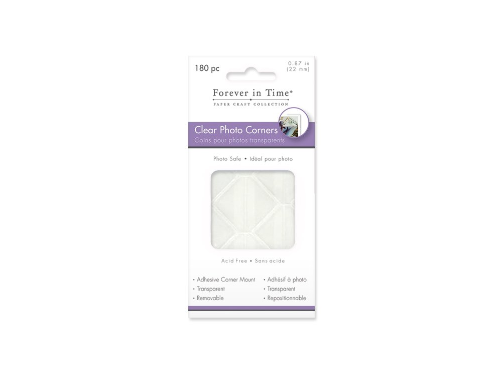 Forever In Time Photo Corners Adhesive Clear Corner Mounts, 7/8-Inch, 180 Per Package Multicraft Imports PC050