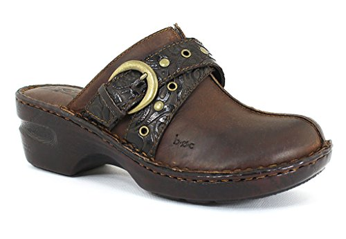 B.O.C. Women's Karley CHOCOLATE TOOLED Leather Casual 7 B(M) US