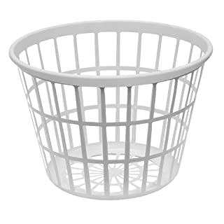 Laundry hamper plastic small do it yourselfore united solutions ln0108 white round plastic laundry basket small laundry basket round in white solutioingenieria Image collections