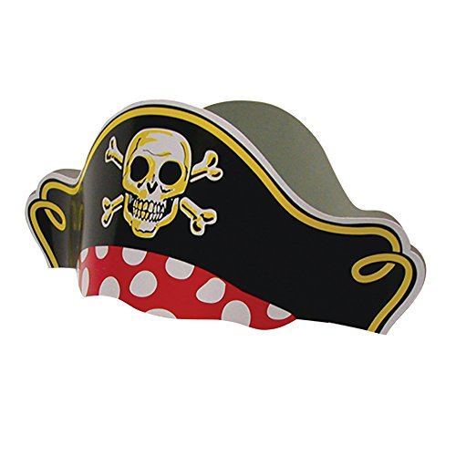 Pirate Captain Party Hats (12 Pack)