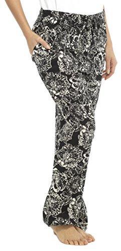 Tom Franks Mujer Impresión Fashion pantalones negro
