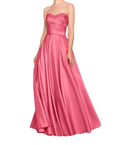 Jugendweihe La Kleider Marie Kleider Festliche Rosa Satin Brautjungfernkleider Abendkleider Wassermelon Braut wqqBYFpS