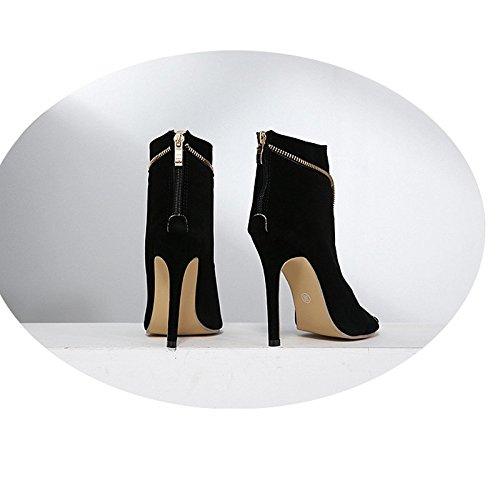 Des Bouche Après Code 5cm Thirty Groupe Summer 8 Un Banglu Bien Avec Le Vide Haut Khskx Super five Gros Noires Bottes Sandales Bon Chaussures Tep Z7wtqvgFx