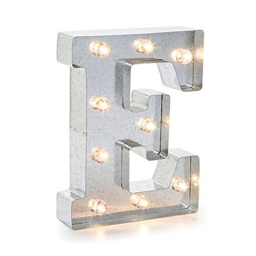 Darice 5915-706 Silver Metal Marquee Letter 9.875
