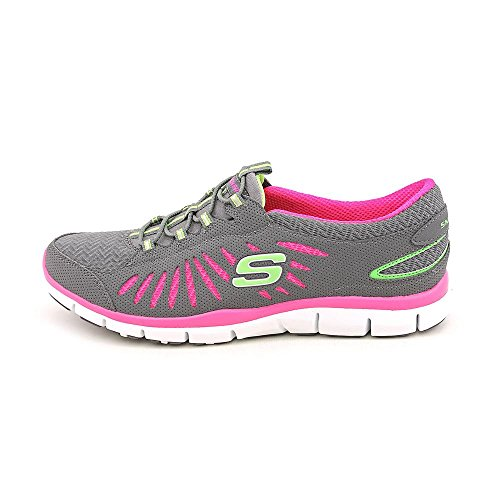 Skechers Sport Womens Free-in Motion Fashion Sneaker Carboncino / Rosa Caldo