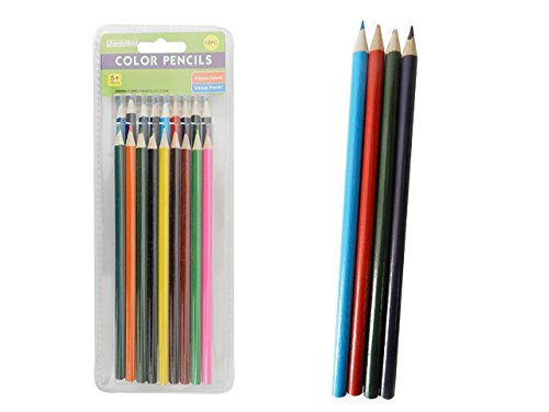 18PC Color Pencils , Case of 144 by DollarItemDirect