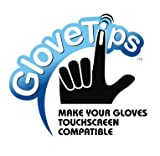 GloveTips 3-Piece Touchscreen Texting Glove Tips Complete Kit Works for iPhone iPad Android phones and all Touchscreen Devices