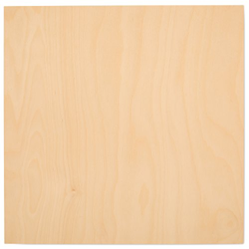 3 mm 1/8 x 12 x 12 Inch Premium Baltic Birch Plywood, Box of 45 B/BB Grade Birch Veneer Sheets by Woodpeckers ()