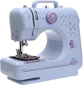 Hammer Mini Máquina de coser eléctrica portable de la máquina de coser domésticas Principiante Sastres gratuitos, la máquina de coser 12 puntos de sutura, de mano de la máquina a medida for principian