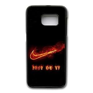 Generic hard plastic Nike Logo Cell Phone Case for Samsung Galaxy S7 Edge Black ABC83