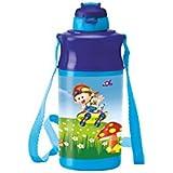 Milton Kool Spark 400 Plastic School Water Bottle, 370ml, Blue