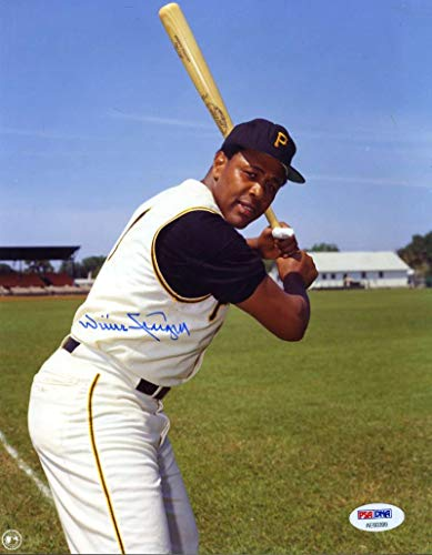 (WILLIE STARGELL PSA DNA Coa Hand Signed 8x10 Photo Authentic Autograph)