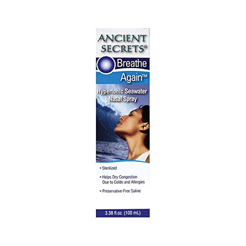 Ancient Secrets Breathe Again Adult Nasal Spray, 3.38 Fluid Ounce