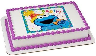 Sesame Street Cookie Monster Licensed Edible Cake Topper 7566