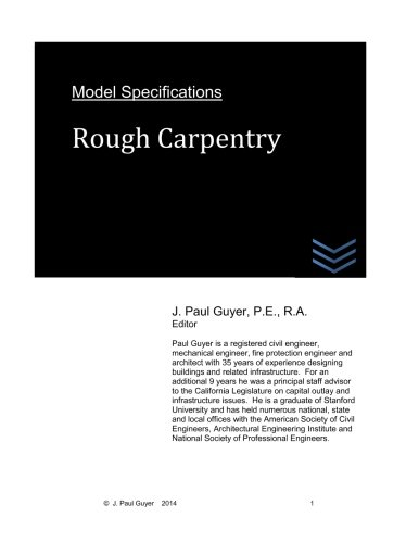 Download Model Specifications: Rough Carpentry (Volume 2) PDF