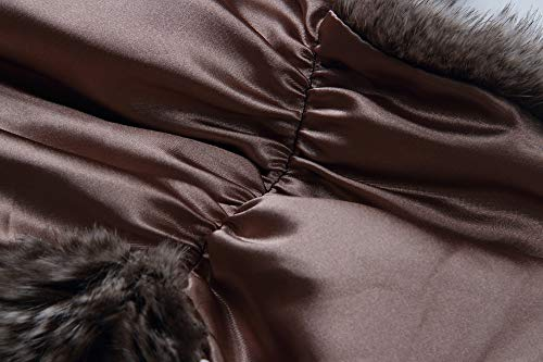 Caracilia Elegant Bridal Wedding Faux Fur Shawl Stole Wrap Shrug CA95 , Rabbit Fur Grey , Large by Caracilia (Image #6)
