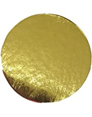 """Enjay Round Gold Mono-Portion Pastry Board 4"""" (25 Pieces)"""