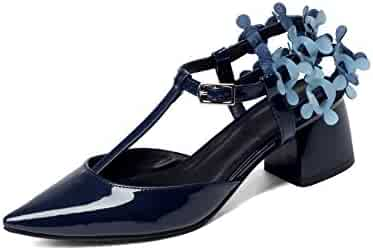 1TO9 Womens Dress Round-Toe Platform Leather Pumps Shoes MMS04083