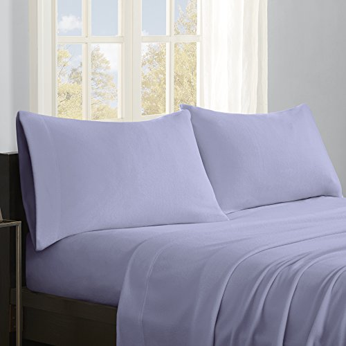 Premium Flannel - True North by Sleep Philosophy SHET20-794 Premier Comfort Micro Fleece Sheet Set Queen Lavender,