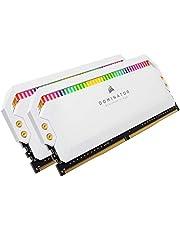 Corsair Dominator Platinum RGB desktopgeheugen geoptimaliseerd, AMD met hoge prestaties bij frequenties, 12 LED's RGB CAPPELLIX instelbaar, DDR4, C16, 16 GB, 2 x 8 GB, 3200 MHz, wit