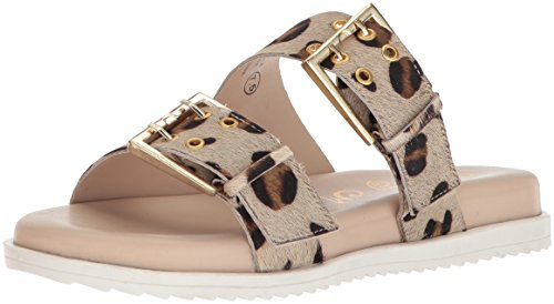 Naughty Monkey Women's Hey Pony Sandal, Leopard, 7.5 M -