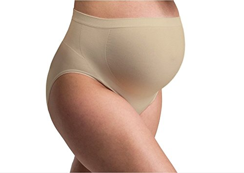 Popular Womens Seamless Maternity Belly Support Over The Bump Underwear 6 Pack