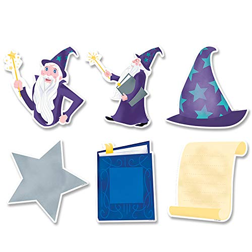 Creative Teaching Press CTP8660BN 6 in. Mystical Magical Wizardly Fun Designer Cut-Outs - Pack of 3