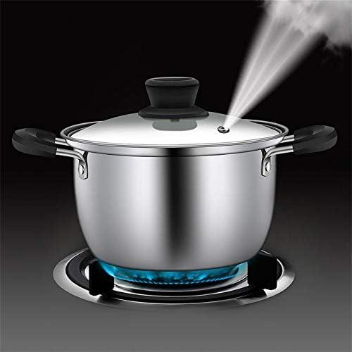 KQP Pot De SoupeInduction De Gaz épaissie De Pot De Soupe d'acier Inoxydable AppropriéeConvient pour La Cuisine à Domicile