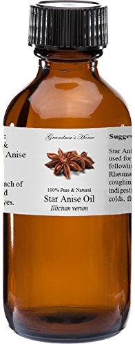 Anise Star Essential Oil - 2 fl oz -100% Pure and Natural - Therapeutic Grade - Grandma's Home