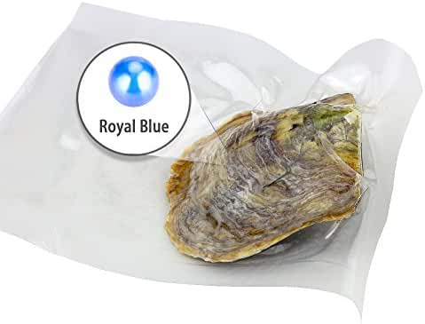 Ny Vacuum Package Akoya Round Cultured Pearl in Oyster 6-7mm 100pcs (Blue)