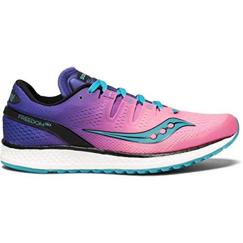 Saucony Damen Freedom ISO Laufschuh Pink Lila
